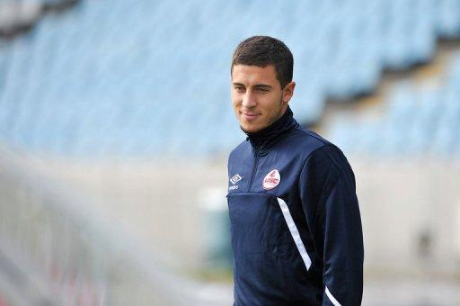 Eden Hazard, pictured during a trainning session at Lille metropole stadium in Villeneuve d'Ascq, in 2011. Hazard completed his £32 million transfer from French club Lille on Monday after the 21-year-old had initially suggested he was likely to join either Manchester City or Manchester United ahead of Chelsea