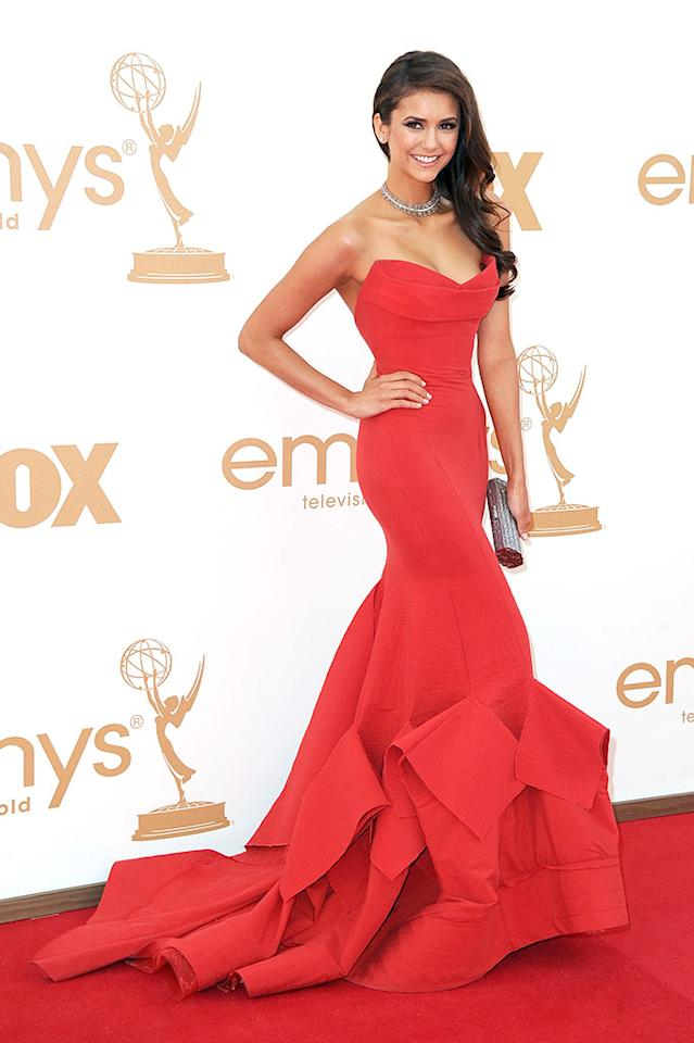 LOS ANGELES, CA - SEPTEMBER 18:  Actress Emmanuelle Chriqui arrives at the 63rd Annual Primetime Emmy Awards held at Nokia Theatre L.A. LIVE on September 18, 2011 in Los Angeles, California.  (Photo by Frazer Harrison/Getty Images)