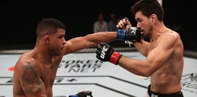 Gilbert Burns TKOs Demian Maia at UFC Brasilia