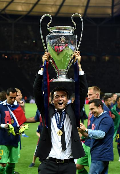 Luis Enrique's blueprint for success comprised both possession and counterattacks. (Getty Images)