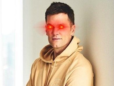 NFL star Tom Brady added laser eyes to his Twitter profile picture on 10 May, 2021 (Twitter/ Tom Brady)