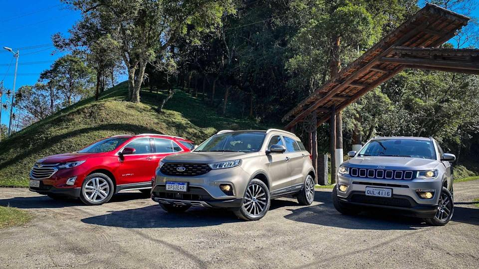 Ford Territory x Jeep Compass x Chevrolet Equinox