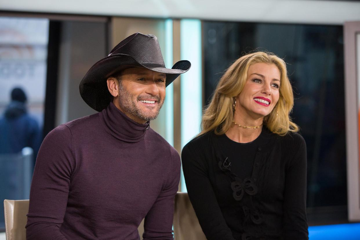 TODAY -- Pictured: Tim McGraw and Faith Hill on Friday, November 17, 2017 -- (Photo by: Nathan Congleton/NBCU Photo Bank/NBCUniversal via Getty Images via Getty Images)