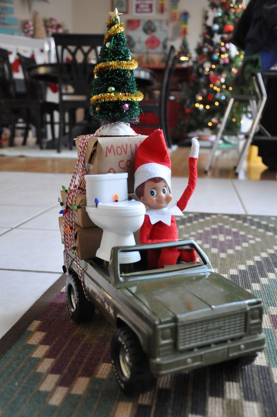 """<p>Say goodbye to your elf — Merry Christmas and see you next year! </p><p><em><a href=""""http://www.littlebitfunky.com/2012/12/31-days-of-elf-on-shelf-31-elf-ideas.html"""" rel=""""nofollow noopener"""" target=""""_blank"""" data-ylk=""""slk:See more at Little Bit Funky »"""" class=""""link rapid-noclick-resp"""">See more at Little Bit Funky » </a></em></p>"""