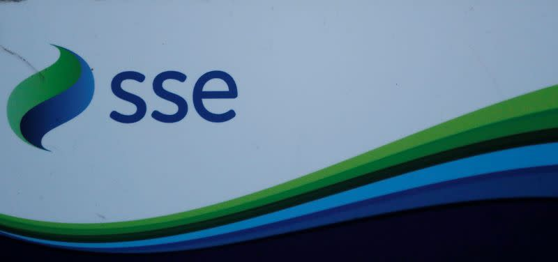 FILE PHOTO: An SSE company logo is seen on signage outside the Pitlochry Dam hydro electric power station in Pitlochry