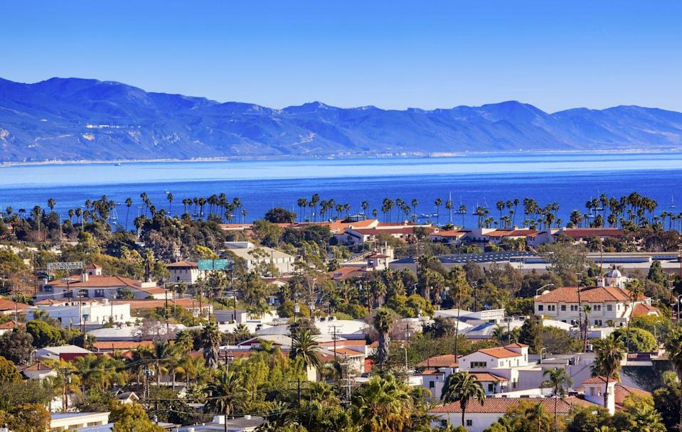 """<p>Santa Barbara is called the """"American Riviera"""" for a reason: the seaside city brings to mind southern France, with mountains in view behind the beaches. But you'll also notice a strong resemblance to colonial Spain in the California city, thanks to the red-tiled rooftops and tall palm trees. The whole place has a definite Mediterranean feel to it. </p>"""