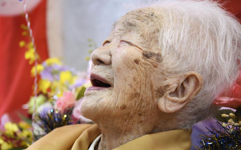Kane Tanaka is now officially the third oldest person of all time - Newscom/Alamy Live News