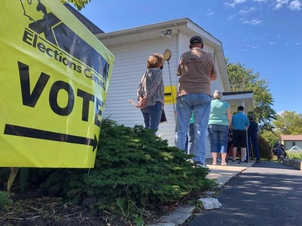The advance polling station at Belle River United Church in Belle River, Ont., on Sept. 10, 2021. (Chris Ensing/CBC - image credit)