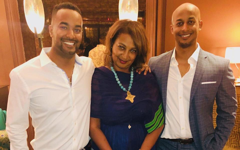 Princess Gelila Selassie and her two sons