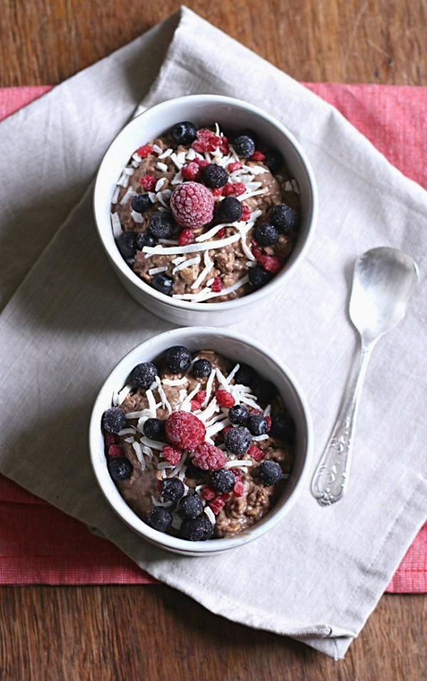 Overnight Chocolate Chia Oat Pudding
