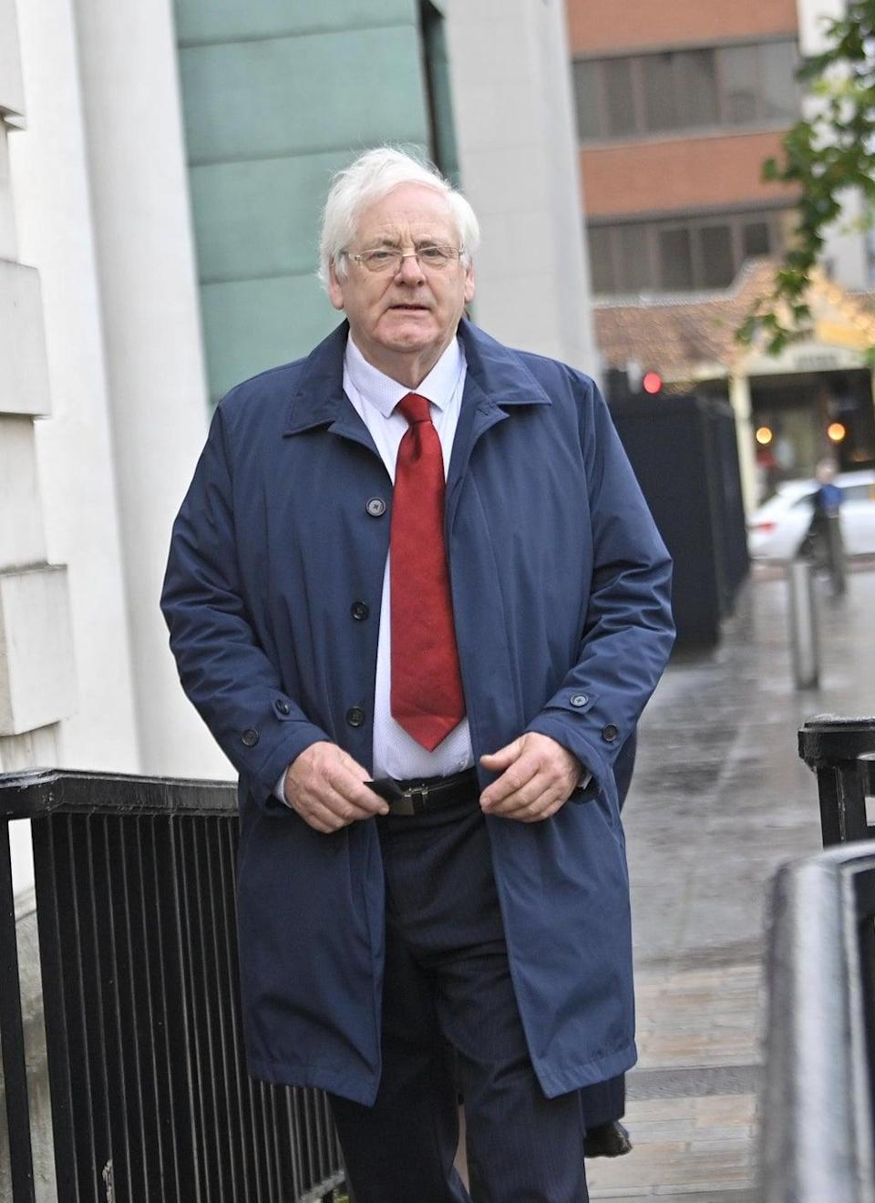 Michael Gallagher arrives at Belfast High Court ahead of the full judgment in the Omagh bomb judicial review (Mark Marlow/PA) (PA Wire)