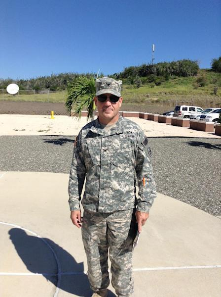 US Army Colonel David Heath poses for a photo on November 7, 2014, at Guantanamo Bay detention camp in Cuba (AFP Photo/Chantal Valery)