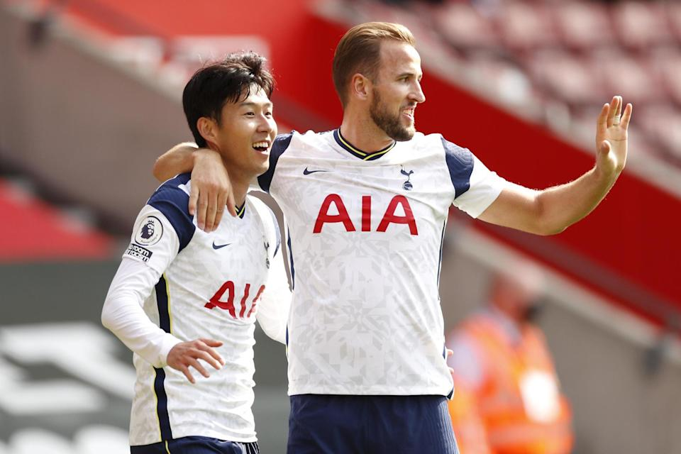 <p>Spurs forwards Heung-min Son and Harry Kane feature across the board</p>Getty Images