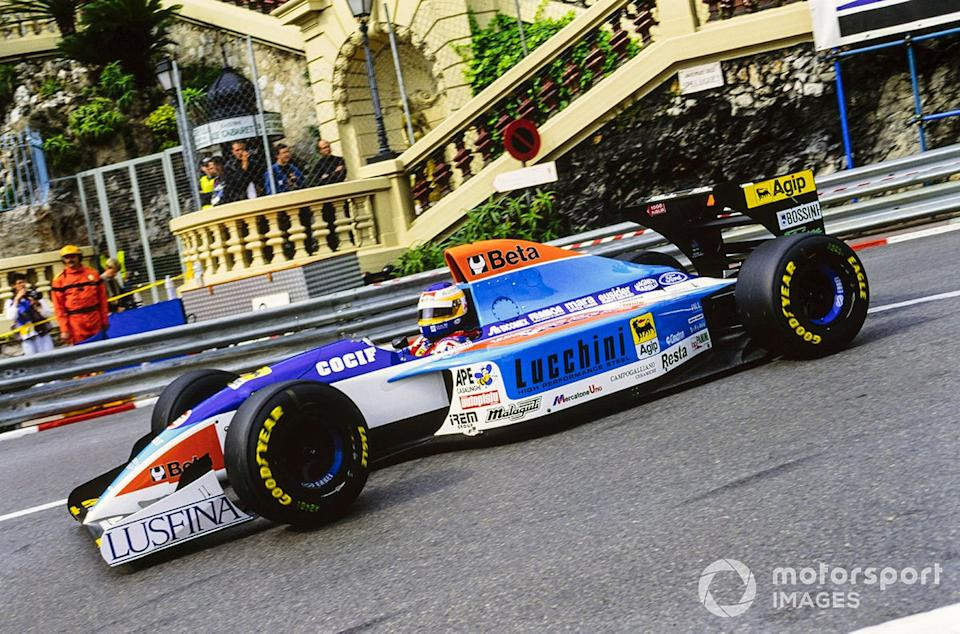 "A little joy for Albo in a tragic season for Grand Prix racing - scoring sixth in Monaco for Minardi. 1994 would be his last year in F1.<span class=""copyright"">Motorsport Images</span>"