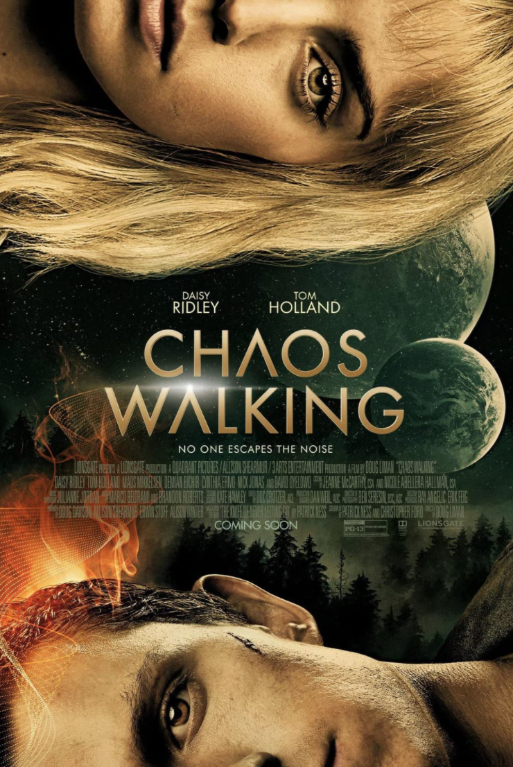 <p><em>Chaos</em> has been walking for over a year trying to find a release date. Hopefully, we'll finally get to see this Tom Holland dystopia world where there exists no women. Spoiler: Daisy Ridley is on the poster.</p>