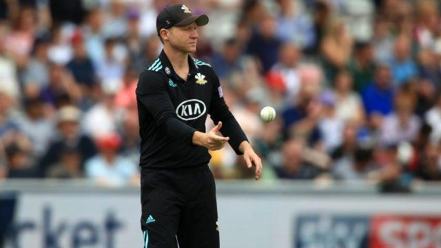 Surrey captain Gareth Batty was the closest fielder to where the bolt landed