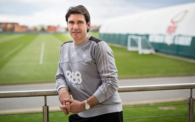 "Aitor Karanka can still remember the text message he received from Jose Mourinho, on the day he was appointed as the new manager of Nottingham Forest: ""He said that I'd made a good choice. He knows about the size and history of this club and wished me good luck."" Mourinho, a key figure in Karanka's career path after appointing him as his assistant at Real Madrid in 2010, also wrote the foreword to the book of the excellent film I Believe In Miracles, which tells the story of Forest's successive European Cup triumphs under Brian Clough. And it was only a club with such rich history and expectation that was going to persuade Karanka to consider a return to the Championship. ""Coming back to this league may have looked like a step back, but for me this is a step forward because it's not a normal club,"" says Karanka, sitting in his office at Forest's training ground for his first major newspaper interview since taking charge. Nottingham Forest are two-time winners of the European Cup Credit: GETTY IMAGES ""When you're not here, you know about the history but to actually go into the boardroom and see the two European Cups, you realise it's huge. ""The history is a motivation, every time I wear the two stars I am representing Nottingham Forest. It's a privilege and I cannot understand a big club without pressure."" Karanka is determined to create some history of his own and become the manager who finally delivers Forest back to the Premier League, following his appointment in January. After a difficult start, he has delivered the anticipated impact. One defeat in eight games suggests Forest – currently 17th in the Championship - will be a different proposition next season. The 44 year-old already has one promotion on his CV, from his time at Middlesbrough, and on Saturday he returns to Teesside for the first time since he left by mutual consent last March. Aitor Karanka won promotion to the Premier League with Middlebrough Credit: GETTY IMAGES ""I was the first foreign coach in their history and to put them in the Premier League was an honour,"" he says. ""It had been a really tough two-and-a-half years. The first year was difficult because I was living alone in my first job, with a different language and culture. The atmosphere was depressed and there were only 10,000 in the stadium. ""The following season we played 55 games and lost in the play-off final [to Norwich]. The toughest moment was in the summer when I returned to my office and put all the 50 fixtures back on the board. ""But to finish second and go up the next year was an incredible feeling. When we got promoted I cried in the dressing room for 45 minutes."" The next season was one of regrets: Middlesbrough's existence as a Premier League club was brief, fraught with problems and largely forgettable. There were frequent reports of tension over transfers before Karanka's departure, but he still considers chairman Steve Gibson a friend. ""We considered it and the best thing for the club was to separate, for both of us. It couldn't work at the end but the relationship we still have is amazing. Until now, Middlesbrough had been the only place I'd managed so there were many good moments."" Karanka's return to the Riverside also promises to be poignant, for more personal reasons. His father, Fernando, died in September after a short battle with cancer and was a regular visitor while Karanka was in charge. ""Of course it will be emotional because he was my mentor and greatest supporter. It was one of the best experiences to spend the 10 days with my father before he passed away,"" he said. ""After leaving Middlesbrough I needed the time out. There were quite a few offers [he was interviewed by Swansea and West Brom] but I was waiting for the right opportunity. ""I was out of work for 10 months but when I met the chairman [Nicholas Randall] in Madrid for the first time I knew this was going to be the next step in my career."" Karanka is clearly enthused by the challenge ahead. He can sometimes appear stern in press conferences but away from the spotlight he is animated, passionate and fully in tune with the new era at Forest. Aitor Karanka is optimistic has can transform Nottingham Forest's fortunes Credit: GETTY IMAGES After the takeover by Evangelos Marinakis last summer, and removal of unpopular former owner Fawaz Al Hasawi, there is now optimism and a tangible feeling of reintegration with supporters, with Karanka at the forefront. His relationship with Mourinho remains close: they speak most days and barely five minutes after the final whistle of Forest's 2-0 win at Wolves in January, the Manchester United manager was calling to offer his congratulations. Karanka will need more notable results like that next season, making no secret of the fact that promotion is the aim, though it required a brutal cull in January to kick-start his tenure. After a tepid 3-0 home defeat to Preston, he looked around the dressing room and realised drastic changes were crucial. Eight players came in before deadline day, with seven going out. ""My feeling was that a lot of people were really complacent, the pressure and blame was always on the manager. Another one sacked, then another one! I'm not here to be the next one, not for a long time I hope,"" he says. Evangelos Marinakis is the new owner of Nottingham Forest Credit: AFP ""The Preston game was the best thing that happened because we realised we had to change a lot of things. I don't know what would have happened if we'd won that game. Now the players know the challenge, the aim, and it's different. ""It wasn't just a message for the dressing room, it was for everyone. To work here should not be easy, unless you're working hard."" It will be 20 years next season when Forest last operated in the top flight: the campaign when Ron Atkinson infamously walked to the wrong dug-out. ""The young supporters here have never seen the team in the Premier League and yet they will keep hearing about the history – they won't know how big this club is. ""The worst thing is when you feel comfortable being in that situation, as a Championship team. My aim is to get promotion and it will need hard work, but we are all here together to try and do it."""
