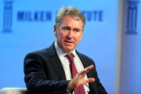 FILE PHOTO - Ken Griffin, Founder and Chief Executive Officer of Citadel, speaks during the Milken Institute Global Conference in Beverly Hills