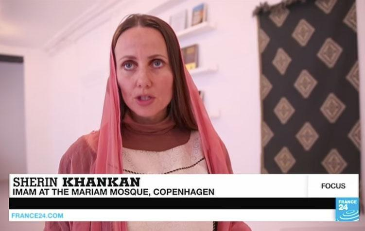 She does not wear a hijab unless she's praying. Source: France 24 English