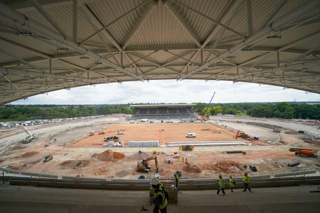 The Alexander Stadium in Birmingham, which is being redeveloped for the Games, is set to be at full capacity