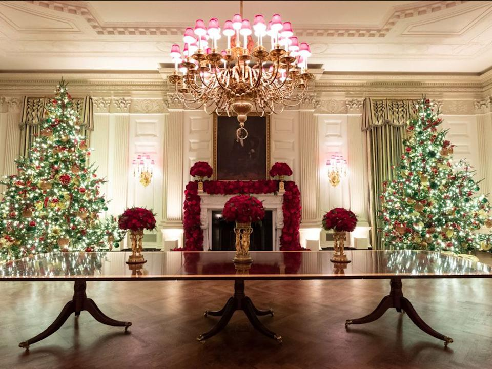 The 2019 White House Christmas decorations by First Lady Melania Trump | Official White House Photo by Andrea Hanks