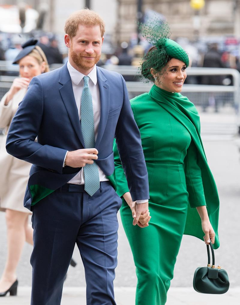LONDON, ENGLAND - MARCH 09: Prince Harry, Duke of Sussex and Meghan, Duchess of Sussex attend the Commonwealth Day Service 2020 on March 09, 2020 in London, England. (Photo by Samir Hussein/WireImage)