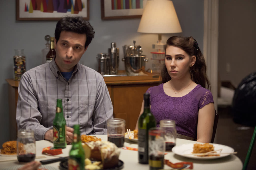 "Alex Karpovsky and Zosia Mamet in the ""Girls"" Season 2 episode, ""It's a Shame About Ray."""