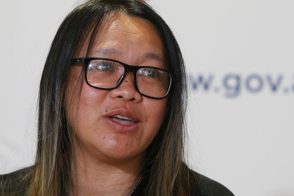 Dr Nhi Nguyen speaks during a COVID-19 update and press conference on in Sydney, Australia.