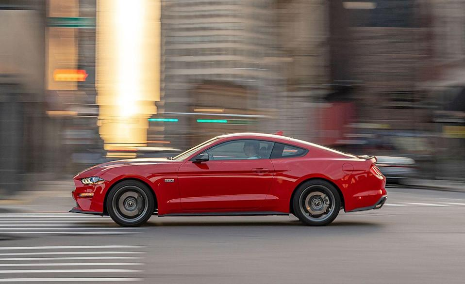 """<p>Though the <a href=""""https://www.caranddriver.com/ford/mustang-shelby-gt350-gt350r"""" rel=""""nofollow noopener"""" target=""""_blank"""" data-ylk=""""slk:Ford Mustang Shelby GT350"""" class=""""link rapid-noclick-resp"""">Ford Mustang Shelby GT350</a> is dead and the <a href=""""https://www.caranddriver.com/ford/mustang-shelby-gt500"""" rel=""""nofollow noopener"""" target=""""_blank"""" data-ylk=""""slk:Shelby GT500"""" class=""""link rapid-noclick-resp"""">Shelby GT500</a> is only available with a seven-speed dual-clutch automatic transmission, you can still get a stick in every other version of <a href=""""https://www.caranddriver.com/ford/mustang"""" rel=""""nofollow noopener"""" target=""""_blank"""" data-ylk=""""slk:Ford's pony car"""" class=""""link rapid-noclick-resp"""">Ford's pony car</a>, be it a fastback coupe or a convertible. A six-speed manual is available with the potent turbo-four, the GT's 5.0-liter V-8, as well as in the 480-hp Bullitt and the new Mach 1.</p>"""