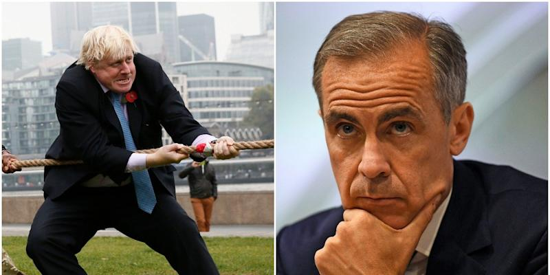 Boris Johnson v Mark Carney