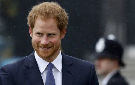 Britain's Prince Harry attends the Metropolitan Police Service Annual Ceremony of Remembrance for colleagues who lost their lives in the line of duty, at the Metropolitan Police Training College in London