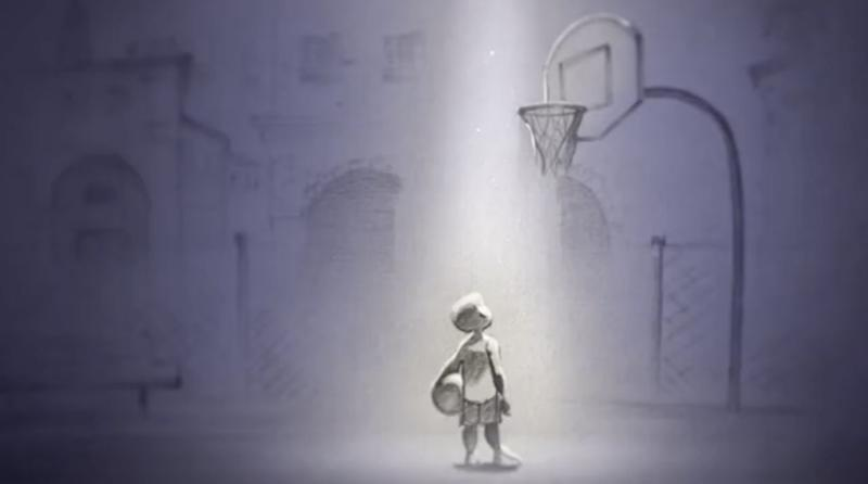 "The 6-year-old Kobe in ""Dear Basketball."" (Image: go90)"