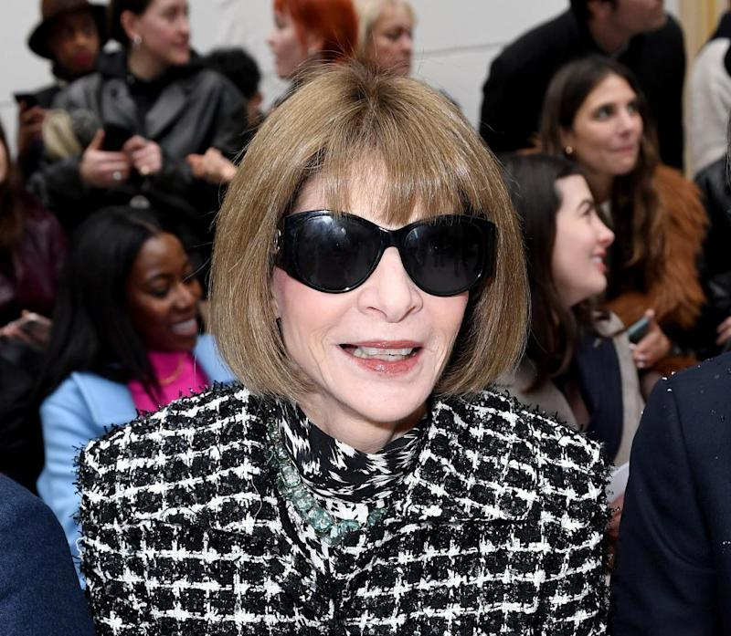 US Vogue editor, Anna Wintour, shortly before lockdown began.