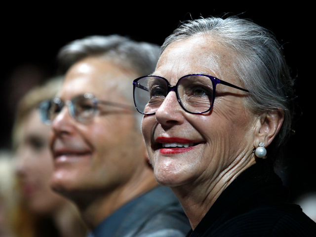 Alice Walton (Jim out of focus)