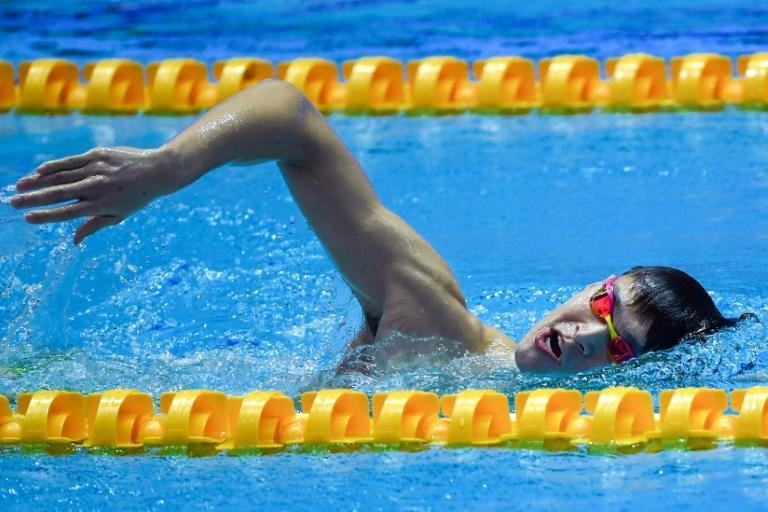 Sun is a three-time Olympic champion and the 1,500m world-record holder