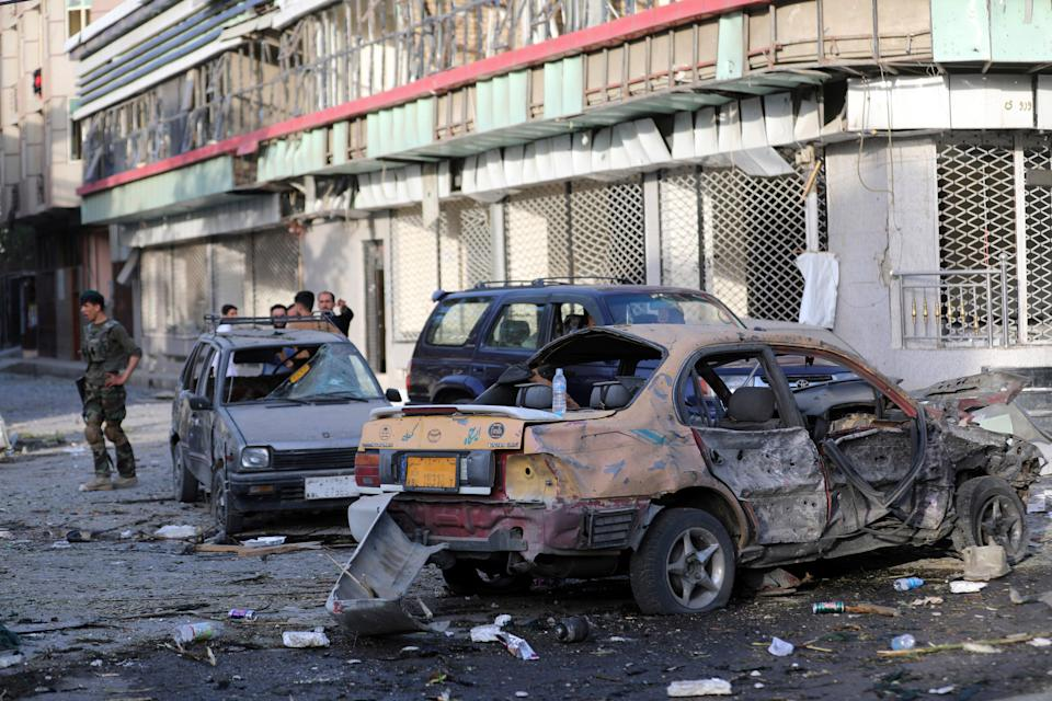 Afghanistan Explosion (Copyright 2021 The Associated Press. All rights reserved.)