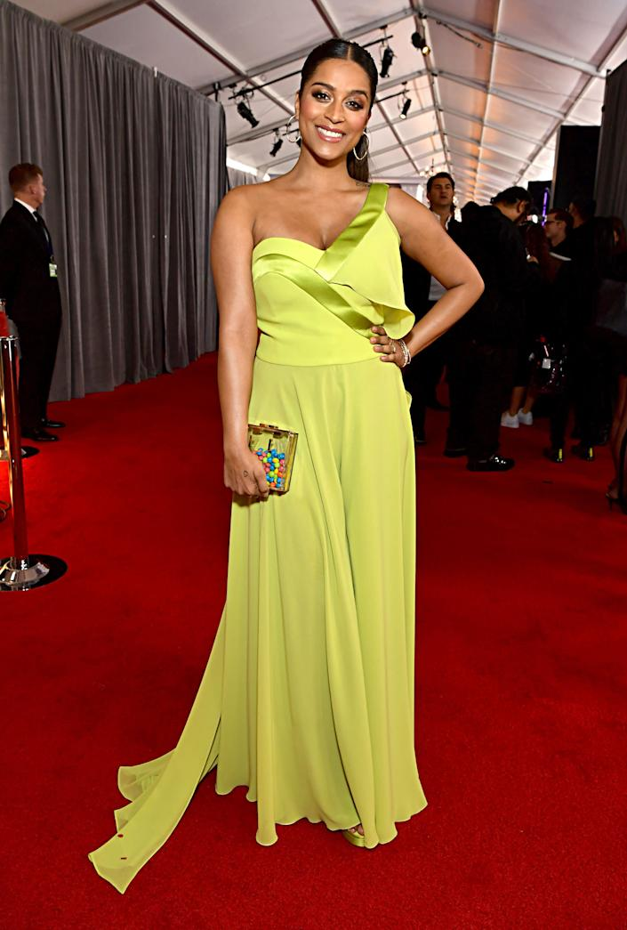 Lily Singh at the Grammys.