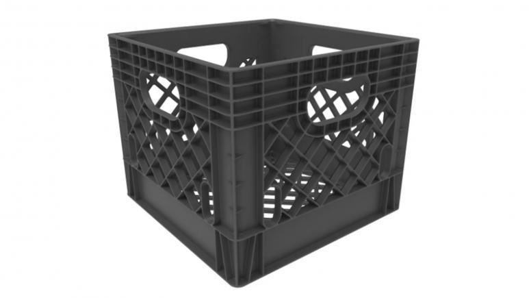 Rehrig Pacific Company 16qt Industrial Milk Crate Gray