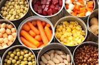 """<p>Veggies <em>can </em>fall under the same trap. </p><p>""""This does not apply to all canned vegetables, in fact some may be a great addition to your weekly meals! However some canned vegetable products are packaged with excess added sodium which can take a vegetable with no salt and make it have more than a processed snack item,"""" says Jenna A. Werner, R.D., creator of <a href=""""https://www.happyslimhealthy.com/"""" rel=""""nofollow noopener"""" target=""""_blank"""" data-ylk=""""slk:Happy Slim Healthy"""" class=""""link rapid-noclick-resp"""">Happy Slim Healthy</a>. """"I always advise my clients: <a href=""""https://www.prevention.com/food-nutrition/healthy-eating/a20475401/how-to-read-food-labels/"""" rel=""""nofollow noopener"""" target=""""_blank"""" data-ylk=""""slk:Read those labels"""" class=""""link rapid-noclick-resp"""">Read those labels</a>."""" </p>"""