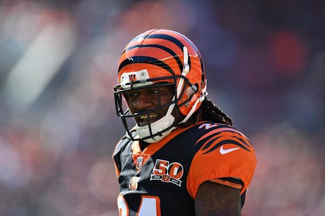 Adam Jones, 34, is currently a free agent after the Bengals declined to pick up the option on his contract this off-season (AFP Photo/Jason Miller)