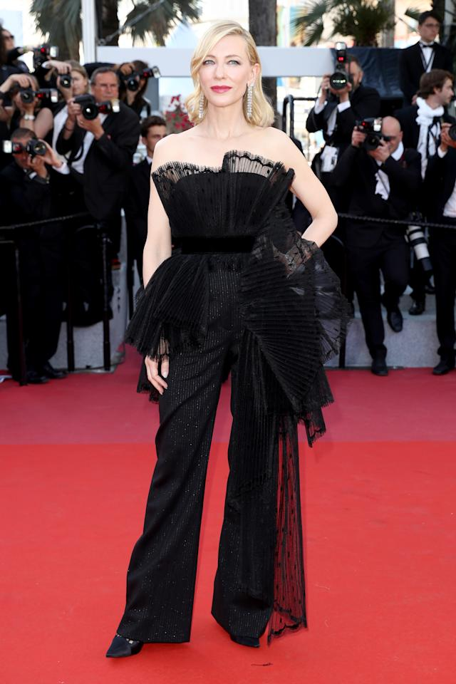 Not one to put a fashion foot wrong, Cate Blanchett reminded us why she's our go-to style muse in a jumpsuit by Givenchy. <em>[Photo: Getty]</em>