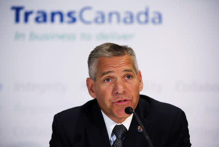 FILE PHOTO - TransCanada President and CEO Girling announces the new Energy East Pipeline during a news conference in Calgary