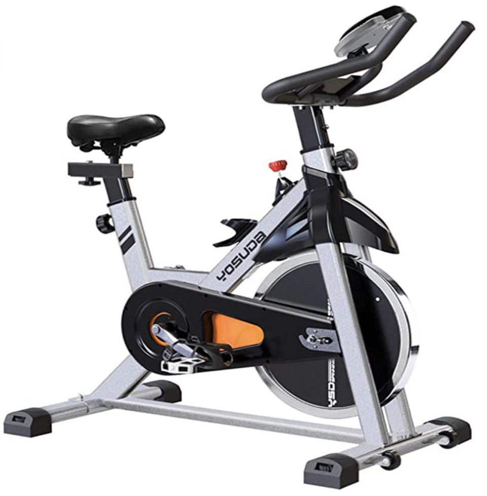 "<p><strong>Yosuda</strong></p><p>amazon.com</p><p><strong>$339.99</strong></p><p><a href=""https://www.amazon.com/YOSUDA-Indoor-Cycling-Bike-Stationary/dp/B07D528W98?tag=syn-yahoo-20&ascsubtag=%5Bartid%7C2089.g.34618159%5Bsrc%7Cyahoo-us"" rel=""nofollow noopener"" target=""_blank"" data-ylk=""slk:Shop Now"" class=""link rapid-noclick-resp"">Shop Now</a></p><p>This best-selling exercise bike is 20% for Black Friday and will help you complete the home gym of your dreams. Its steel frame is stable and durable, and it contains a mount to hold a tablet. The bike can hold up to 270 lbs.</p>"