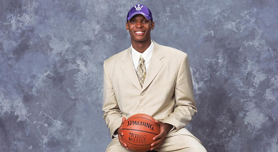 Chris Bosh was selected No. 4 overall by the Toronto Raptors in 2003. (Photo by: Jennifer Pottheiser/NBAE via Getty Images)