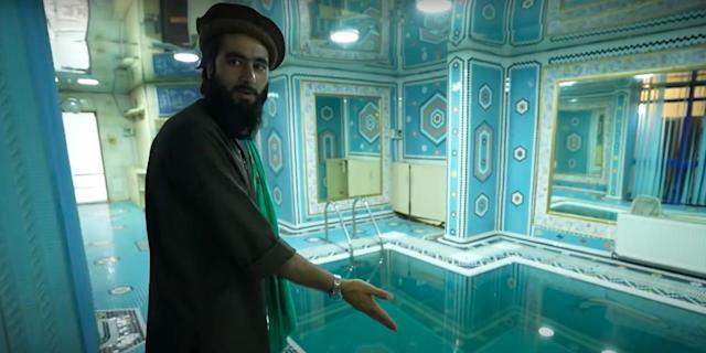 The abandoned palace of Afghanistan's former vice president is now home to  150 Taliban fighters, NYT documentary shows