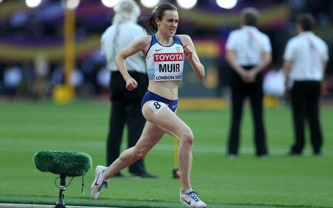"""<p>Her 1,500m near miss may have filled her with mental anguish, but the pain was all physical when Laura Muir tackled the 5,000m for only the third time in her life on Thursday night. The diminutive Scot was temporarily reduced to a comatose state for close to a minute, as she lay on the track exhausted following a somewhat mixed performance in her 5,000m heat. The positive slant was that she qualified for Sunday's final and set an outdoor personal best in the process. The negative came in the fact that, having finished seventh and only progressed as a fastest loser, any medal aspirations look to be wide of the mark. Visibly feeling the effects of her 1,500m exertions earlier in the week when she fell agonisingly short of the podium in finishing fourth, Muir had little to give in the latter stages over the longer distance last night. Muir pushes herself to the limit towards the end of the race Credit: John Patrick Fletcher/Action Plus Grimacing as her rivals turned the screw, she faded badly in the final lap before trailing home in 14 minutes 59.34 seconds. It was still the fastest time by a British runner outdoors this year, but it suggested that far more is required to challenge for the podium if the final is a similarly quick race. """"That was long,"""" she said. """"I ran as hard as I could, but that was fast. """"I took a day to think about the 1,500m and after that put it behind me and mentally was very positive for this race. """"My body felt fine apart from that last lap. I recovered well afterwards and I've two or three days before the final so I should recover. """"I know I'm better than I ran today and hopefully I can show it in the final."""" Scotland will be doubly represented in that race after Eilish McColgan matched her team-mate in setting a personal best. McColgan, whose mother Liz won the world 10,000m title 26 years ago, clocked 15min 0.38sec to finish fourth in the other heat and advance automatically to Sunday's final. Katarina Johnson-Thompson could have been fo"""