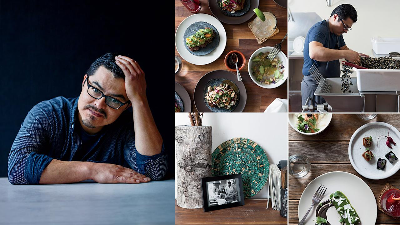 """<p>Growing up on Mexican food, Carlos Salgado is using his expertise to create exceptional dishes at Taco María while still honoring his family's cooking.</p><a rel=""""nofollow"""" href=""""http://www.foodandwine.com/blogs/carlos-saldago-creates-incredible-riffs-food-his-childhood"""">Carlos Saldago Creates Incredible Riffs on the Food of his Childhood</a><a rel=""""nofollow"""" href=""""https://editor.foodandwine.com/blogs/watch-when-lazy-bear-met-taco-maria"""">Watch: When Lazy Bear Met Taco Maria</a><a rel=""""nofollow"""" href=""""http://www.foodandwine.com/recipes/burnt-strawberry-tamales"""">Burnt Strawberry Tamales</a><a rel=""""nofollow"""" href=""""http://www.foodandwine.com/recipes/gazpacho-verde"""">Gazpacho Verde</a><a rel=""""nofollow"""" href=""""http://www.foodandwine.com/recipes/salsa-negra"""">Salsa Negra</a>"""