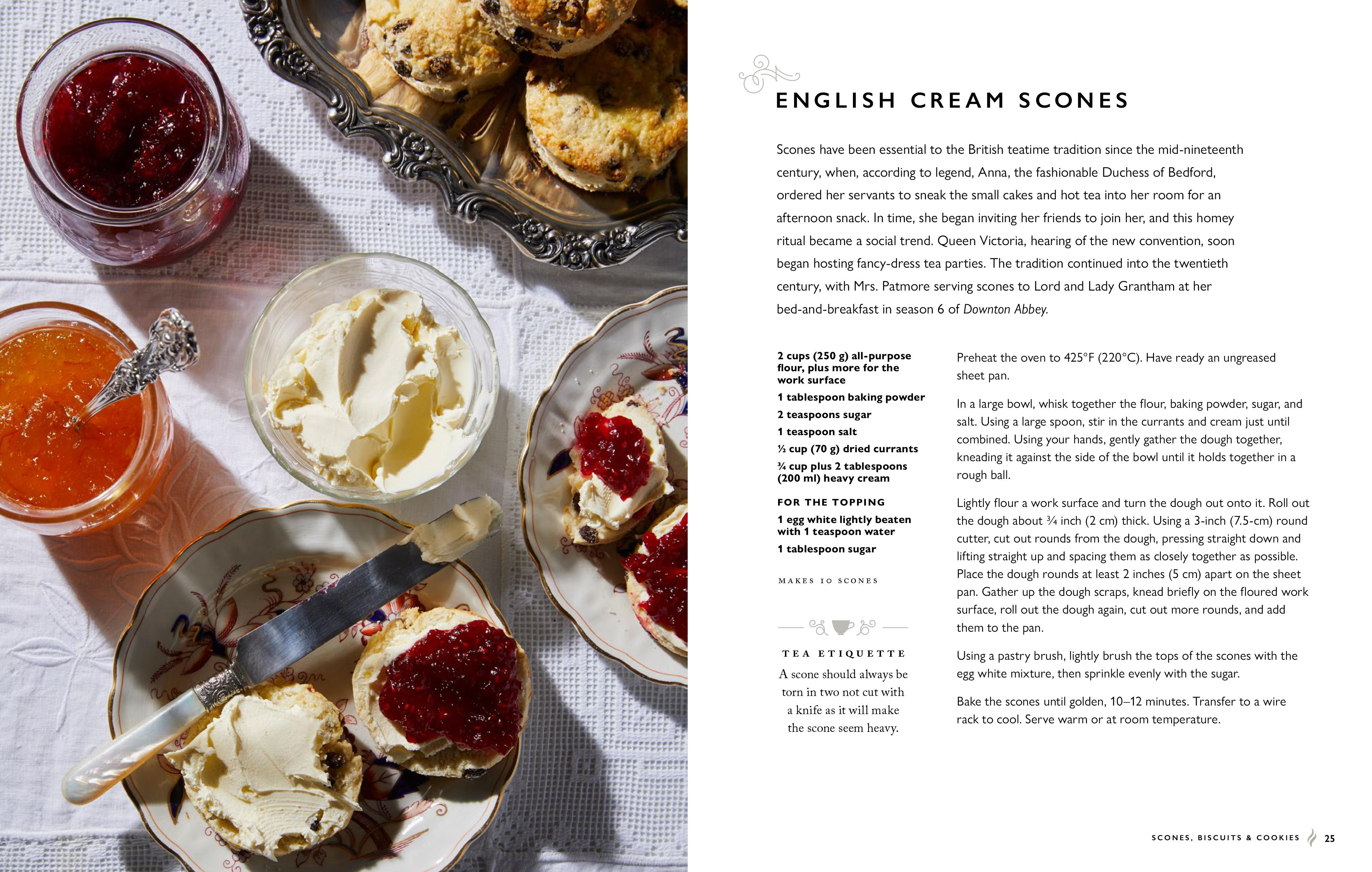 English Cream Scones recipe from The Official Downton Abbey Afternoon Tea Cookbook: Teatime Drinks, Scones, Savories & Sweets. (Image: Weldon Owen)