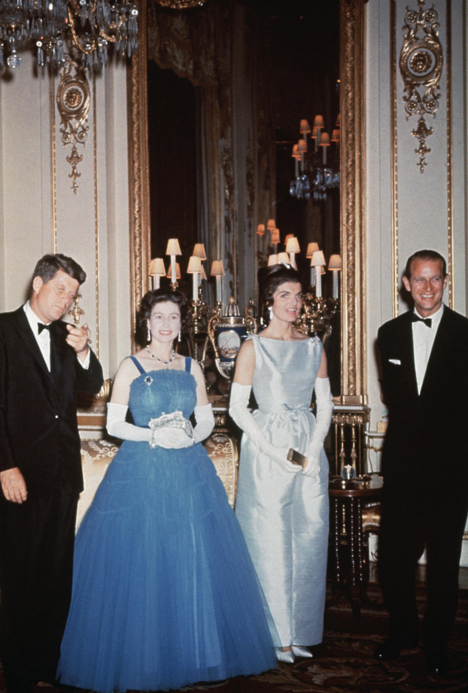 With John F. Kennedy and Jackie Kennedy. [Photo: Getty]