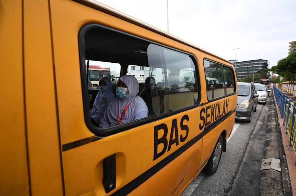 Mohd Rofik said that before the Covid-19 pandemic, school bus operators had at least 11 months of regular income each year so the profession was considered a stable job. — Bernama pic